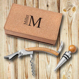 Personalized Wine Opener Set - Cork-Personalized Gifts