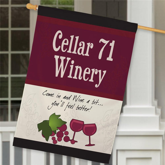 Personalized Winery House Flag-Personalized Gifts