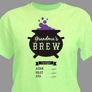 Personalized Witches Brew T-Shirt-Personalized Gifts