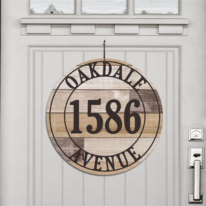 Personalized Wood Address House Sign-Personalized Gifts