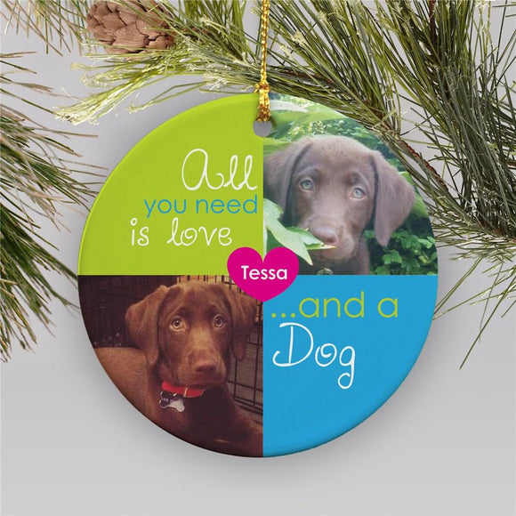 Pet Photo Ornament-Personalized Gifts