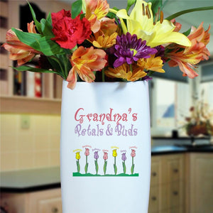 Petals and Buds Personalized Vase-Personalized Gifts