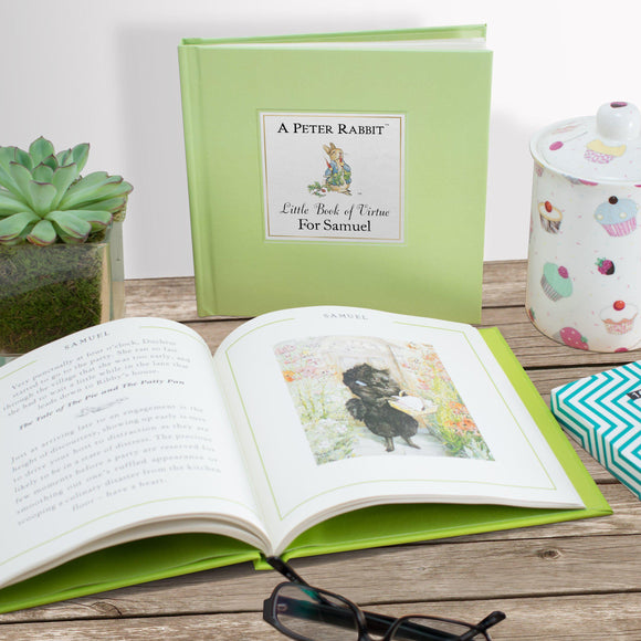 Peter Rabbit's Personalized Little Book of Virtue-Personalized Gifts