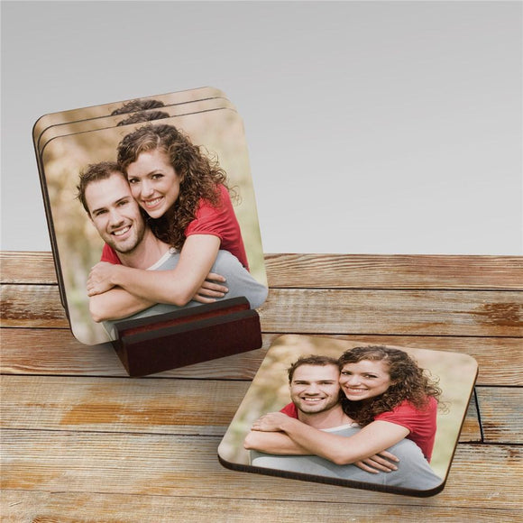 Photo coaster set-Personalized Gifts
