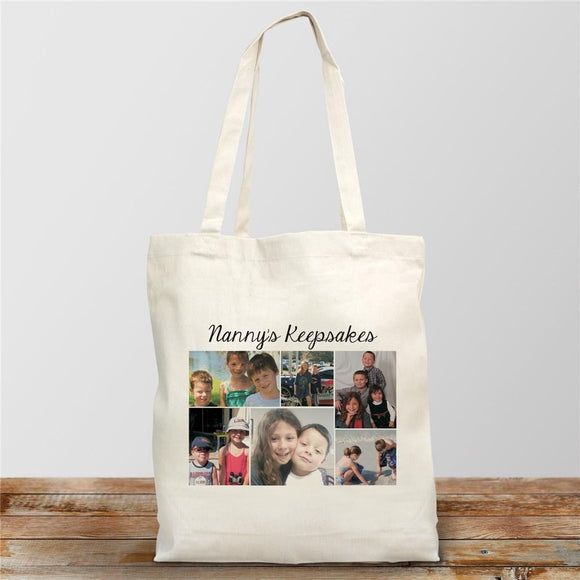 Photo Collage Canvas Tote Bag-Personalized Gifts