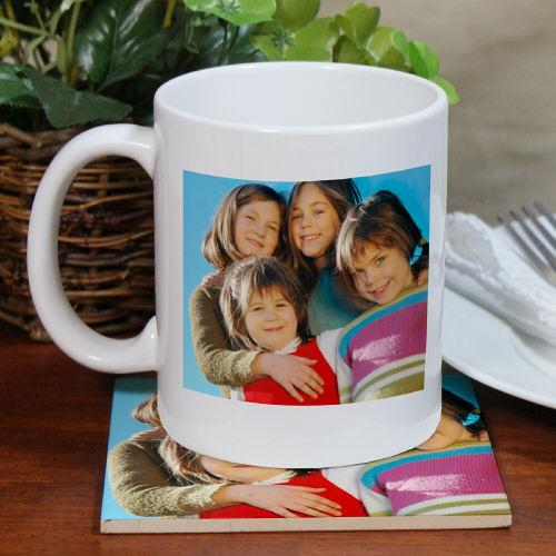 Picture Perfect Mug and Coaster Set-Personalized Gifts