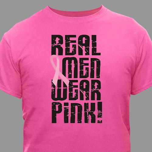 Real Men Wear Pink - Breast Cancer Awareness T-Shirt-Personalized Gifts
