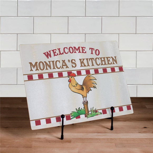 Rooster Kitchen Personalized Cutting Board-Personalized Gifts