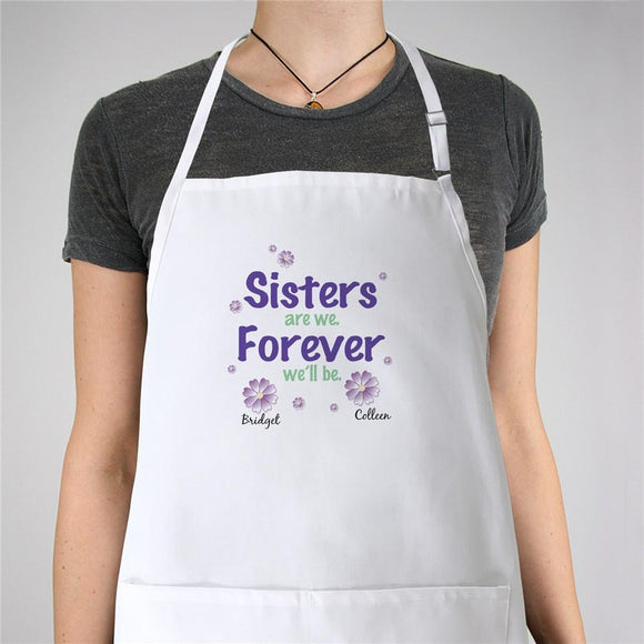 Sisters Forever Personalized Apron-Personalized Gifts