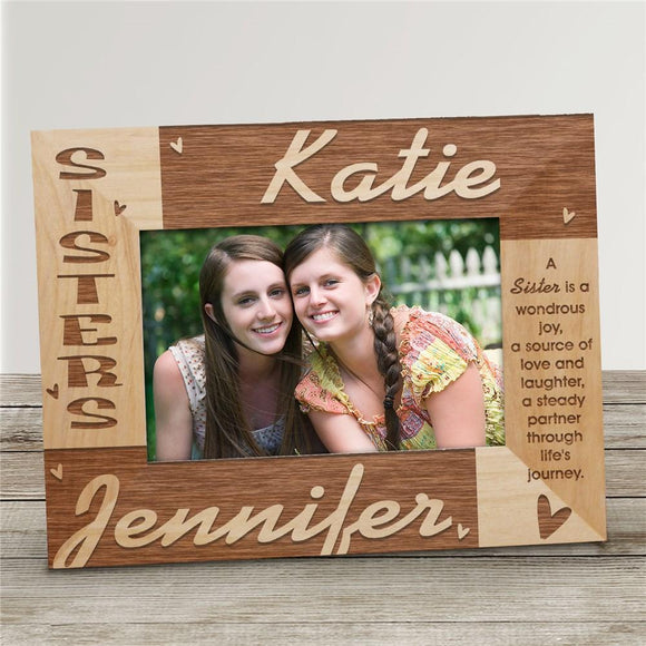 Sisters Personalized Wooden Picture Frame-Personalized Gifts