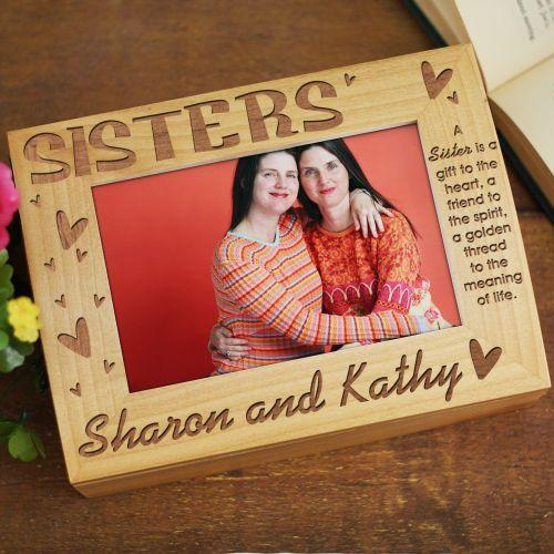 Sisters Photo Keepsake Box-Personalized Gifts