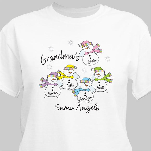 Snow Angels T-Shirt-Personalized Gifts