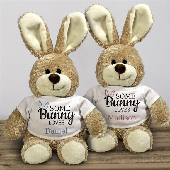 Somebunny Loves 12-Inch Personalized Stuffed Bunny-Personalized Gifts