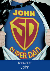 Super Hero, Super Dad Notebook-Personalized Gifts