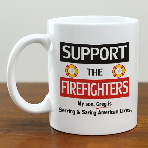 support the Firefighters Mug-Personalized Gifts