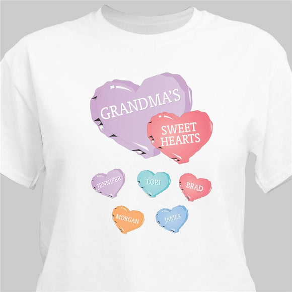 Sweet Hearts Personalized T-Shirt-Personalized Gifts