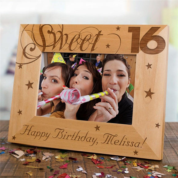 Sweet Sixteen Picture Frame-Personalized Gifts
