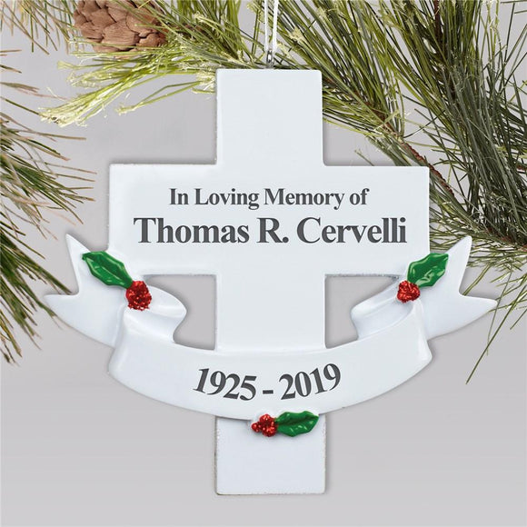 Sympathy Cross Ornament-Personalized Gifts