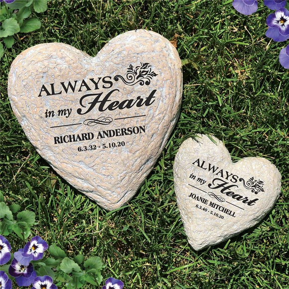 Sympathy Heart Stone-Personalized Gifts