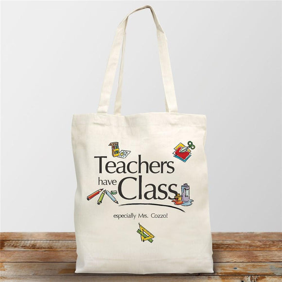 Teachers Have Class Personalized Canvas Tote Bag-Personalized Gifts