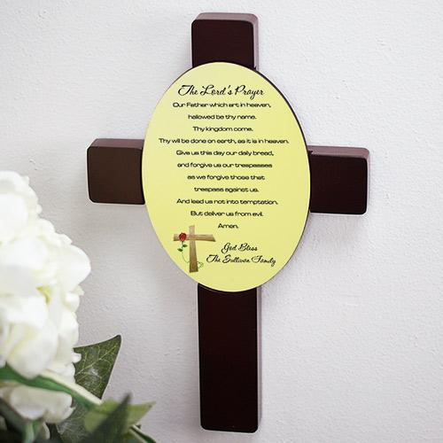 The Lord's Prayer Keepsake Wall Cross-Personalized Gifts