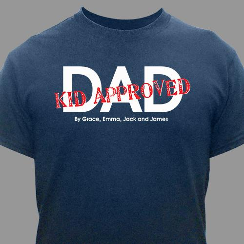 this Dad is Approved! T-shirt-Personalized Gifts