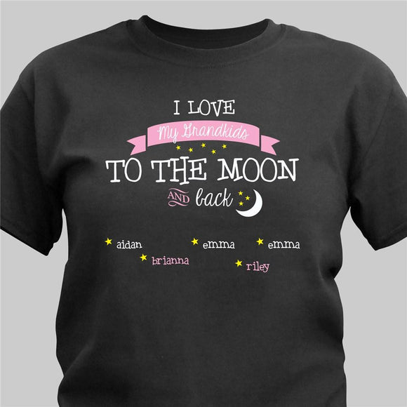 To the Moon Personalized T-shirt-Personalized Gifts