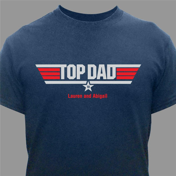 Top Dad Personalized T-Shirt-Personalized Gifts