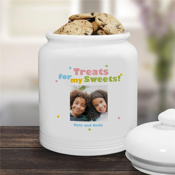 Treats for My Sweets Photo Ceramic Cookie Jar-Personalized Gifts
