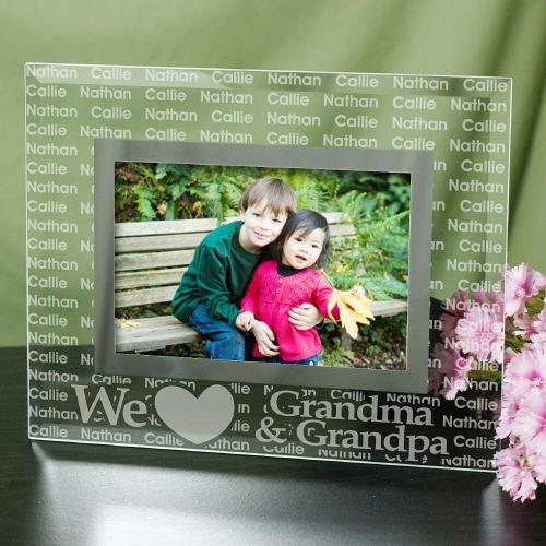 We Love... Personalized Glass Picture Frame-Personalized Gifts