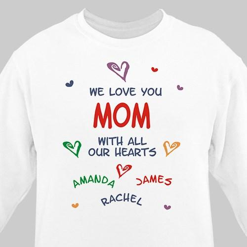 We Love You Personalized White Sweatshirt-Personalized Gifts
