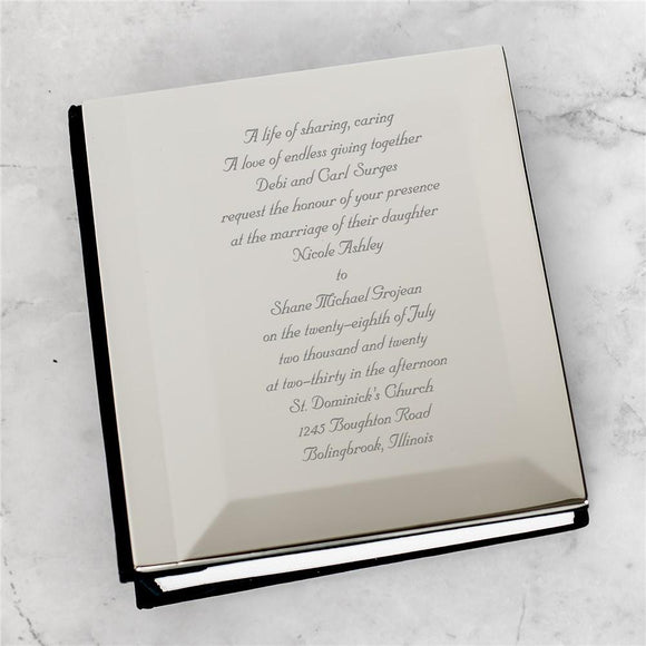 Wedding Invitation Personalized Silver Album-Personalized Gifts