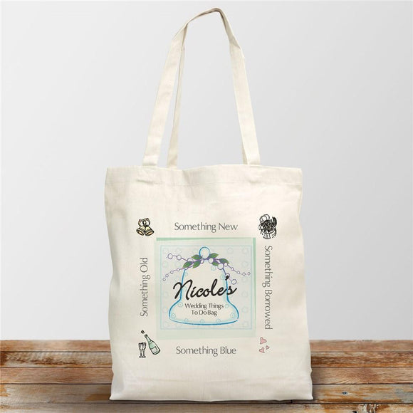 Wedding Things To Do Personalized Bride To Be Canvas Tote Bag-Personalized Gifts