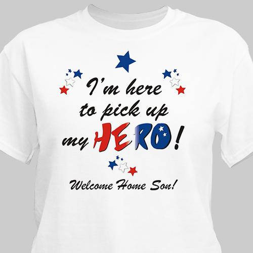 Welcome home My Hero Personalized Military T-shirt-Personalized Gifts