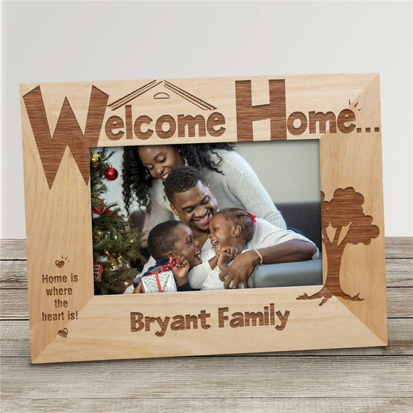 Welcome Home Personalized Wood Picture Frame-Personalized Gifts