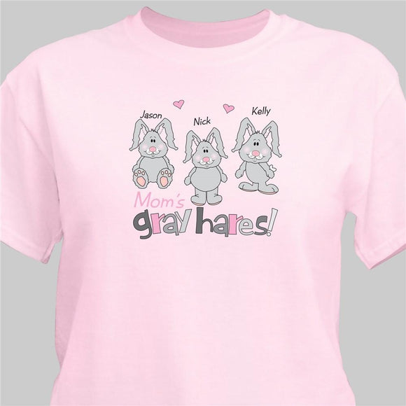 Who makes your Hare Gray T-shirt-Personalized Gifts