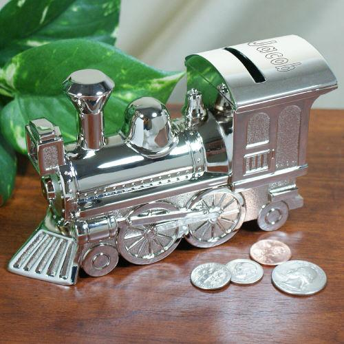 Who's The Conductor? Silver Train Bank-Personalized Gifts