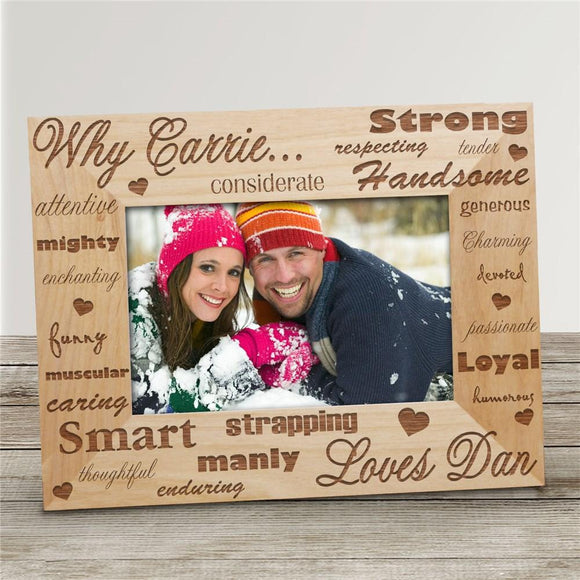 Why I Love You Engraved Picture Frame-Personalized Gifts