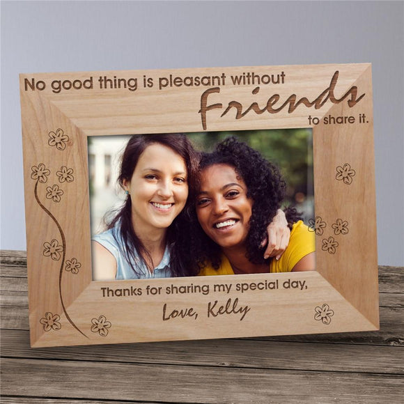 Without Friends To Share Wood Picture Frame-Personalized Gifts