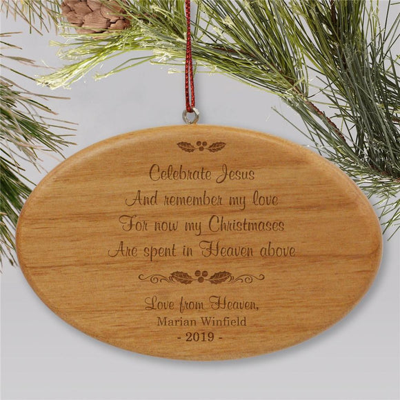 Wooden Personalized Memorial Ornament-Personalized Gifts