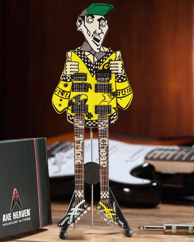 Rick Nielsen(TM) Uncle Dick Double Neck Mini Guitar Replica