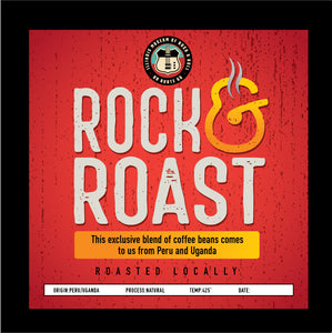 """Rock & Roast"" an exclusive blend of coffee for the Rock & Roll Museum! 12 oz. Bags"