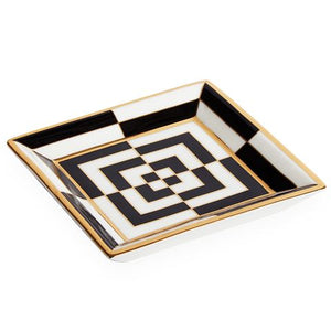 Jonathan Adler Op Art Square Tray - Black/White