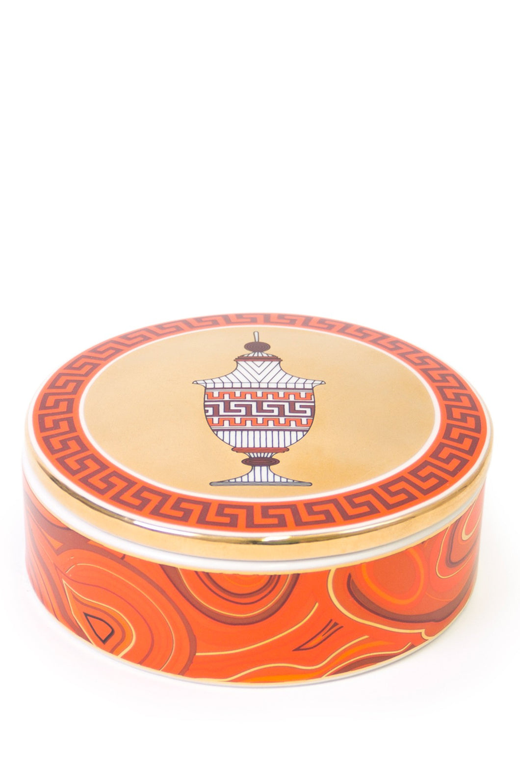 Jonathan Adler Luxembourg Pagoda Trinket Box - Red And Gold