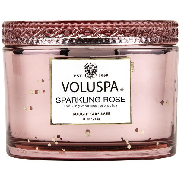 Voluspa Sparkling Rose -Corta Maison Candle With Lid