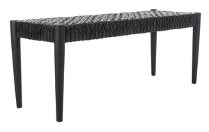 Bandelier Bench/Black/Black Leather