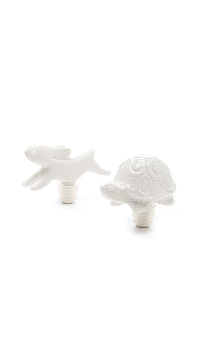 Jonathan Adler Tortoise And Hare Bottle Stopper Set
