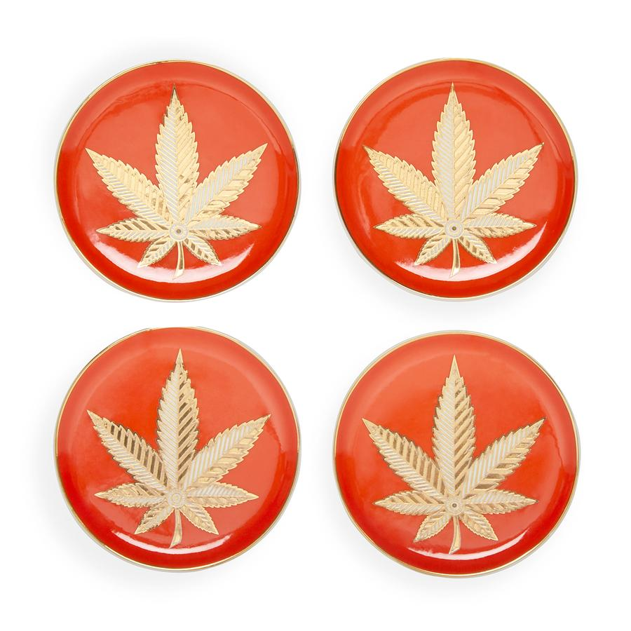 Jonathan Adler Hashish Coasters Set