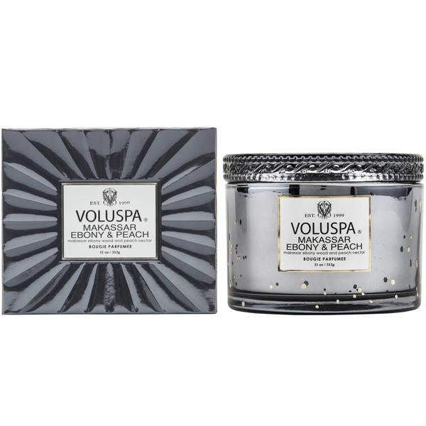 Voluspa Boxed Makassar Ebony & Peach 11 oz
