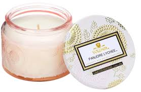 Voluspa Panjore Lychee Small Glass Jar Candle